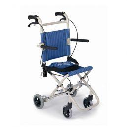 Sedia a rotelle da viaggio richiudibile per treni ed aerei