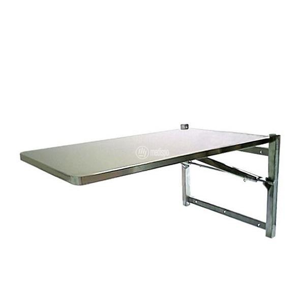 Tavolo veterinario richiudibile a parete da visita acciaio inox