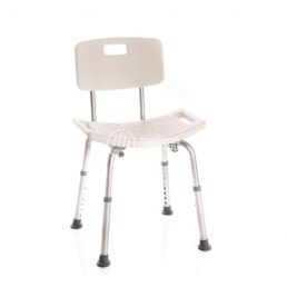 Sedia doccia ad altezza variabile con schienale