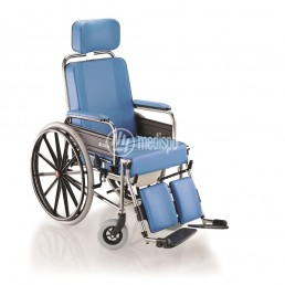Sedia rotelle comoda imbottita con Wc
