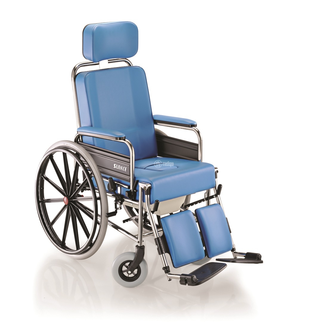 Sedia rotelle comoda imbottita con Wc Surace
