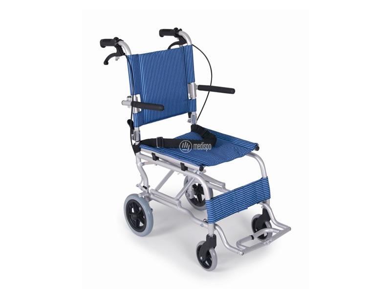sedia a rotelle piccola per aerei o treni con borsa di