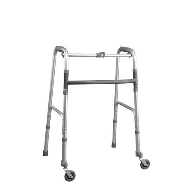 Deambulatore con due ruote girevoli