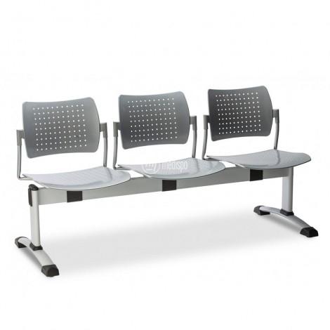 Sedute per sale d'attesa studio medico su barra in metallo