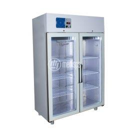 Armadio frigorifero per farmaci doppio con ante in vetro