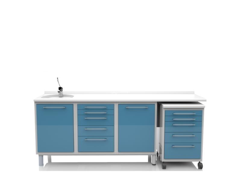 Mobili componibili per studio medico attrezzati in vari colori - Mobili studio medico ...
