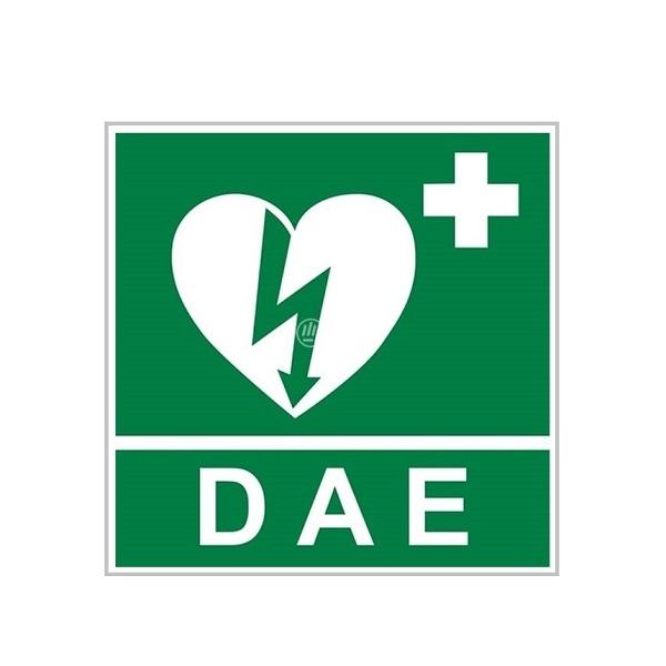 Segnaletica per defibrillatore DAE frontale