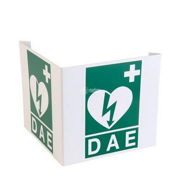 Segnaletica per defibrillatore DAE bifacciale