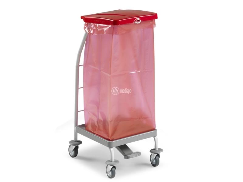 Carrello ospedaliero per i rifiuti