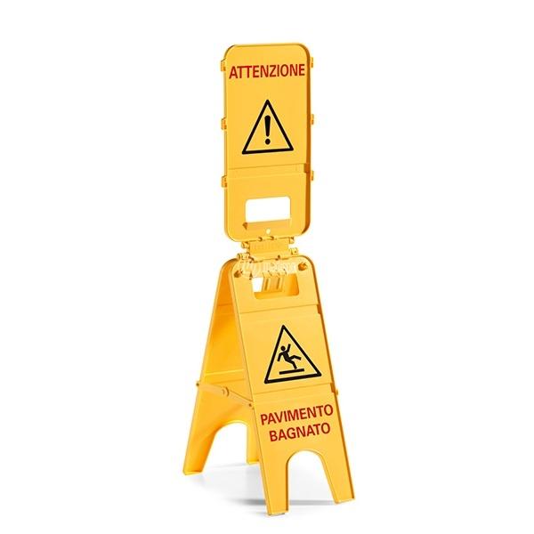 Cartello avviso pavimento bagnato ad alta visibilita - Cartello pavimento bagnato ...