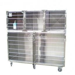 Gabbie per ambulatori veterinari su ruote
