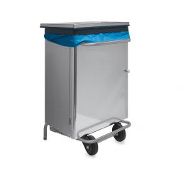 Porta rifiuti in acciaio Inox