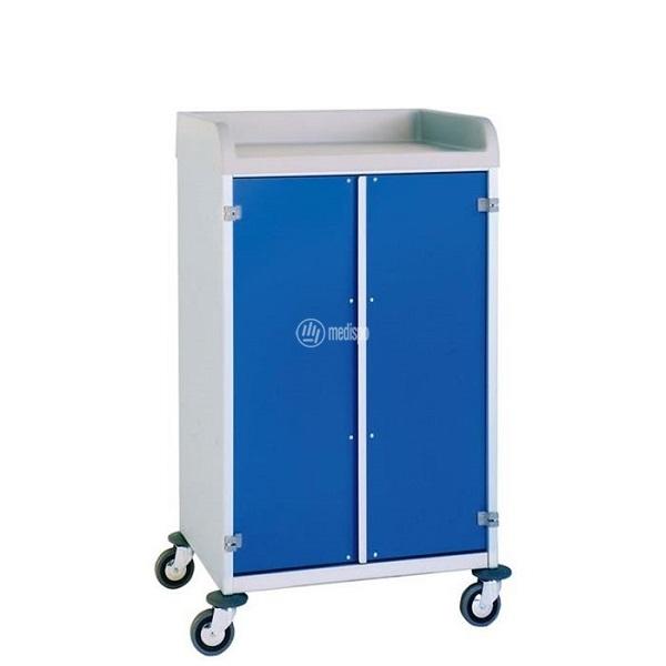 Carrello ospedaliero per la biancheria pulita