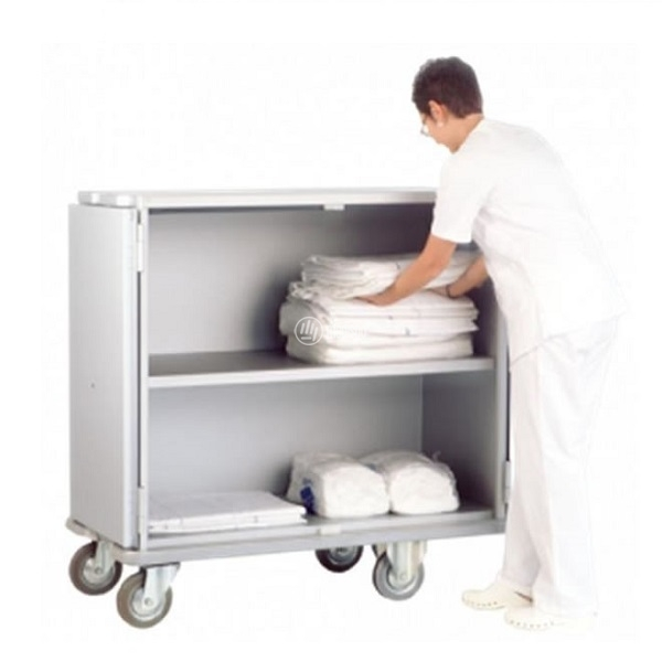 Carrelli ospedalieri in alluminio distribuzione biancheria