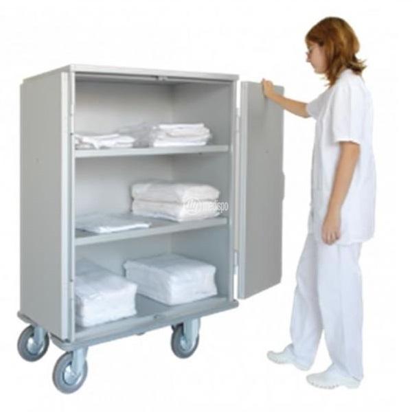 Carrello per lavanderia ospedaliera in alluminio
