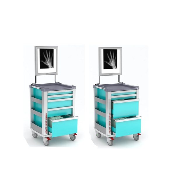 Carrelli porta cartelle cliniche