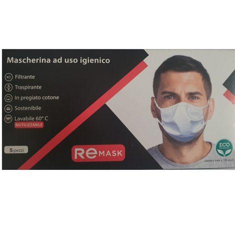 Mascherina Protettiva in Tessuto Lavabile